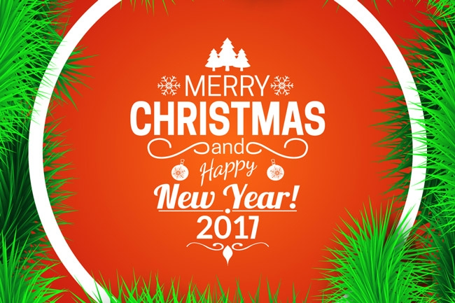 Merry Christmas & Happy New Year 2017