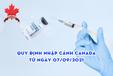 Quy định nhập cảnh Canada từ ngày 07/09/2021