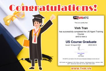 Chúc mừng chuyên viên Trần Xuân Vinh đạt chứng chỉ quốc tế tư vấn giáo dục Mỹ USATC